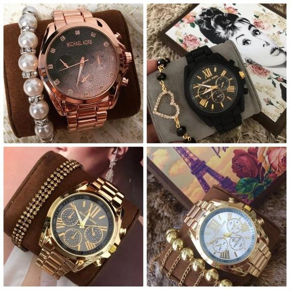 Relógio Feminino Kit C/10 De Luxo Pronta Entrega
