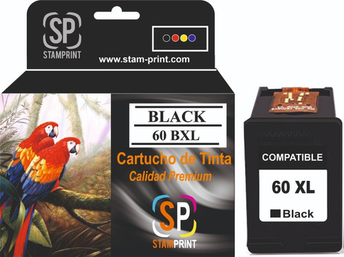 Cartucho Tinta Hp 60 Xl Negro