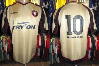 Atlético Paranaense 2004 Camisa Reserva Tamanho Gg # 10.