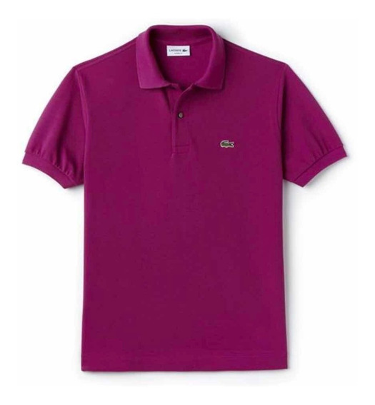 Polo Lacoste L1212 Classic Fit Col. Purple Nueva Temporada