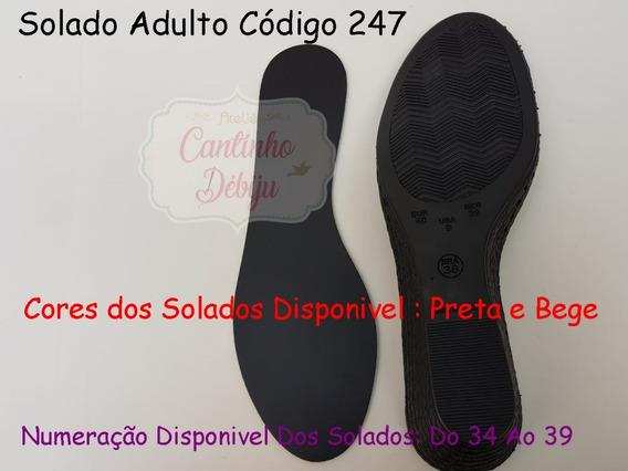 Kit Com 4 Pares De Solados Ana Bella Furados Cód. 247