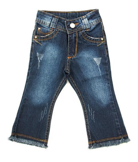 Calça Jeans Bebê Flare Menina Feminina Tamanhos 1 2 3