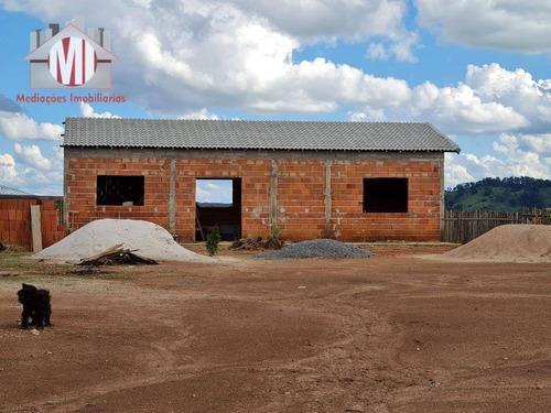 Ótima Chácara Com Escritura, 2 Dormitórios, Contempla Belas Paisagens, Bem Localizada, À Venda, 1000 M² Por R$ 220.000 - Zona Rural - Pinhalzinho/sp - Ch0899