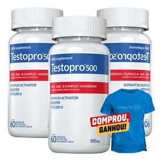 03 Suplemento Testosterona Testopro 500 Inove - 60 Cápsulas