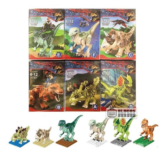 Boneco Jurassic Park World 6 Dinossauros Coleção Completa