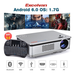Proyector Excelvan Ht60 Android 6.0 1080p 5.8 Lcd 3200lm