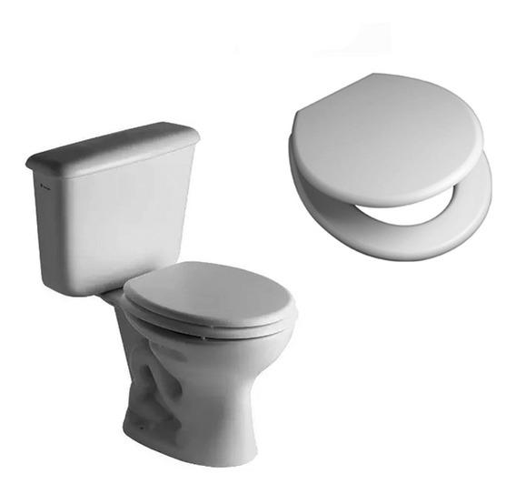Juego Baño Ferrum Sanitarios Inodoro Largo Deposito +asiento