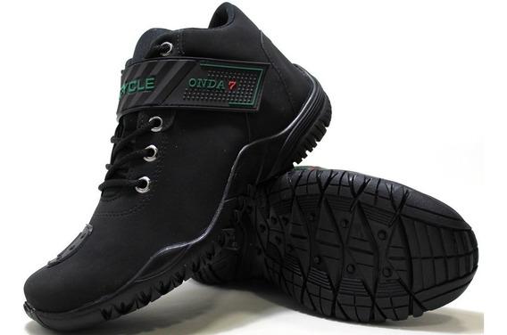 Sapatenis Sapato Sapatilhas Bike Moto Trilha Confortável