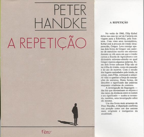 Livro A Repetição Peter Handke