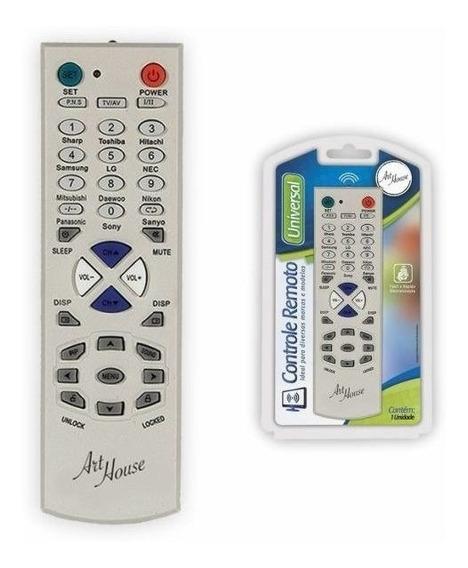 Controle Remoto Tv Universal Tubo Lcd Led Plasma 2 Pilhas