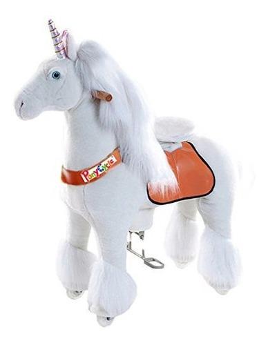 Vroom Rider X Ponycycle Ride-on Unicornio Para 3-5 Años - P