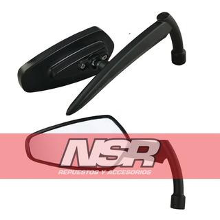 Espejos Sword Aluminio Espada Katana Cafe Bobber Nsr Motos