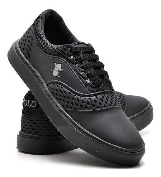 Tenis Sapatenis Sapato Casual Masculino P V C Polo Slim