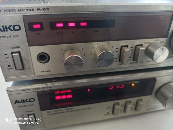 Amplificador Aiko P A-3000 & Tuner D T-3000 Ótimo Origina