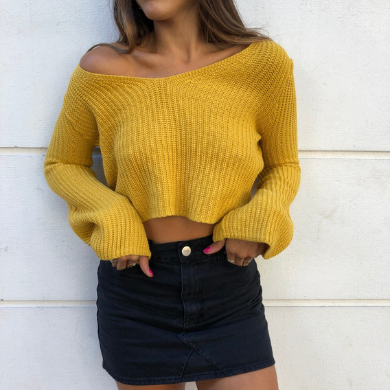 Sweter Invierno Color Mostaza O Beige Nuevos
