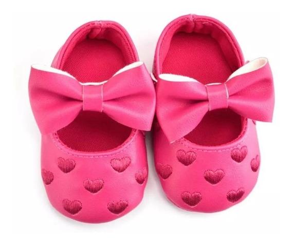 Zapatos De Bebé Corazones.