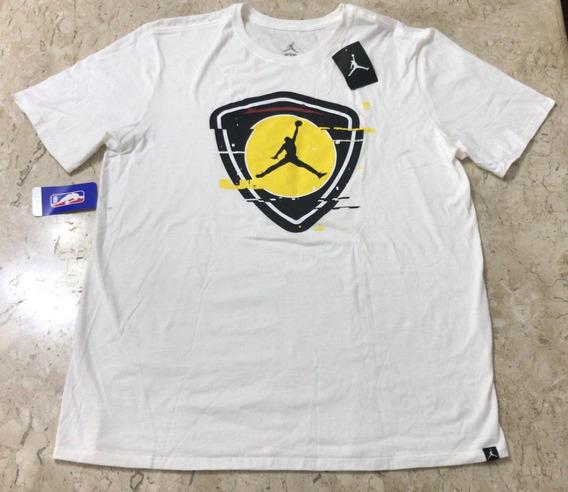 Camiseta Jordan Branca Last Shot Manga Curta