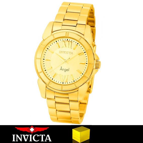 Relógio Invicta Feminino Angel 0459 Ouro 18k Original + N.f