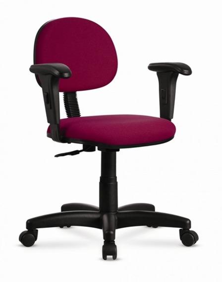 Cadeira Secretária Cercatto 1103 Giratória Em Tecido Vinho