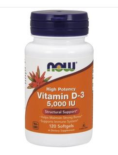 Vitamina D3 5,000 120 Soft Gels Now Foods