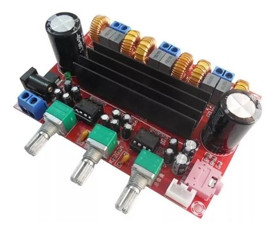 Amplificador Compacto Tpa3116 2.1 50w+50w+100w 200w Rms