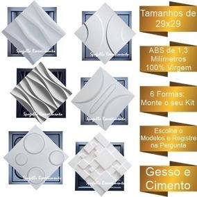 6 Formas De Gesso 3d E Cimento Abs 1,3mm Vários Modelos 29x2