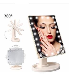 Espejo Maquillaje 16 Led Tocador Portatil 360° Ml2666