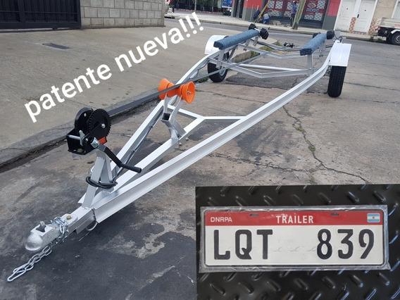 Trailer Para Lancha Semirrigido Moto De Agua Bote Patentable