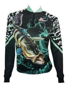 Camisa De Pesca Fem. Fps Uv50+kaa39 Kaapuã E Tube De Brinde