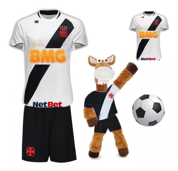 Infantil Vasco + Camisa Adulto + Cavalinho + Bola