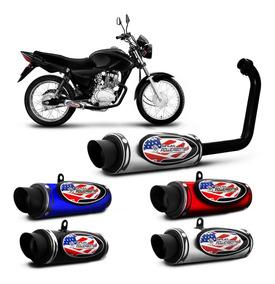Escapamento Esportivo Moto Honda Cg Fan 125 04 A 08 Shutt