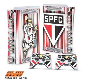 Skin Xbox 360 Fat Adesivo Sao Paulo Time