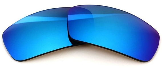 Lentes P/ Oakley Badman Neon Blue Super Elite Frete Gratis