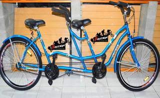 Bicicleta Tandem Rodado 26 Bruzzoni Doble Paseo