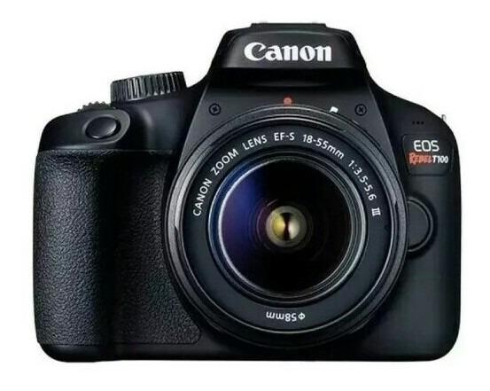 Câmera Canon Digital Prof Rabel T100 18-55+nf Pronta Entrega
