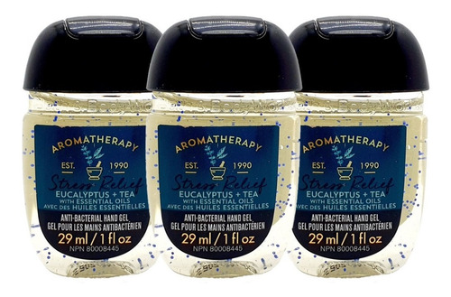 Gel Antibacterial Bath & Body Works Eucalyptus Tea Kit 3 Pz