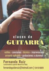 Clases De Guitarra Y Armonía En Ramos Haedo Y Caba