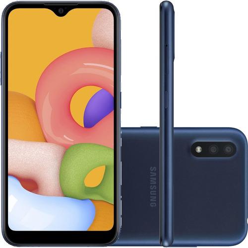Smartphone Samsung Galaxy A01 Dual Sim 32gb 2gb Ram - Azul