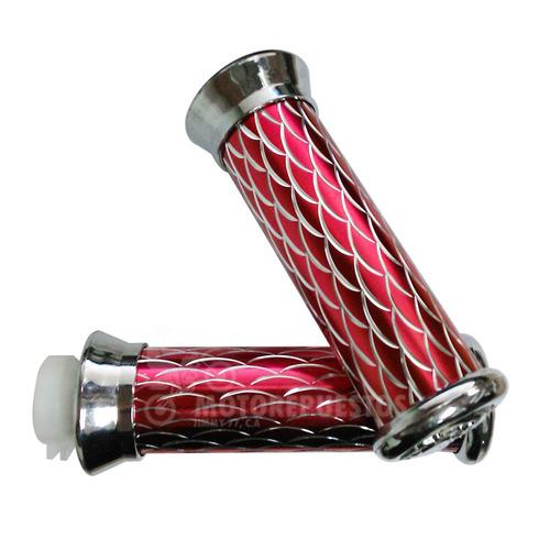 Puño Para Moto Aluminio Rosado