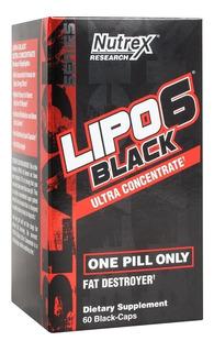 Lipo 6 Black Nutrex Termogênico 60c Importado-pronta Entrega