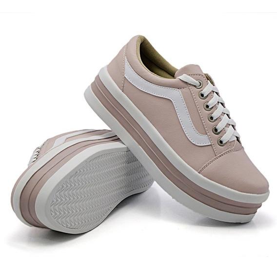 Casual Sola Alta Moda Listra Flatform Slipon Dk Shoes