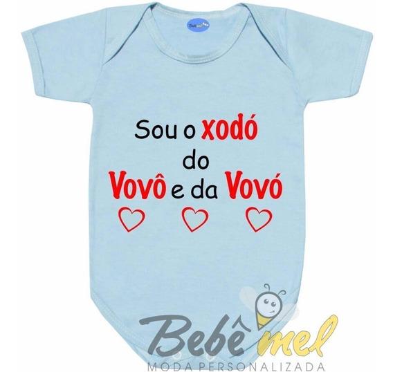 Body Bebê Frases Xodó Do Vovô E Da Vovó Personalizado