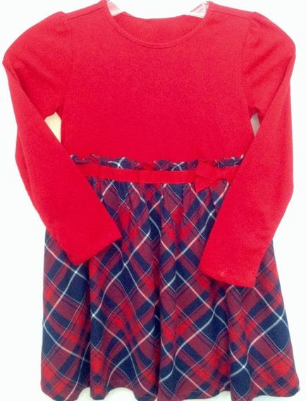 Vestido De Niña Vestir Talla 5 Rojo Y Azul Gymboree