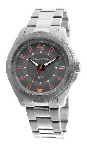 Relógio Masculino Technos 2036lod 1r Aço Prata C Nf Garantia
