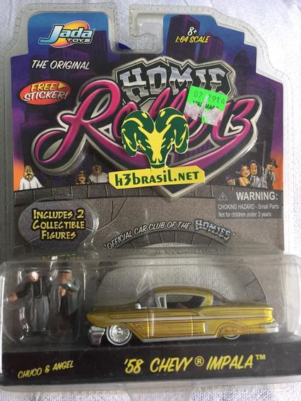 Bx402 Jada Homie Rollerz 58 Chevy Impala Chuco & Angel