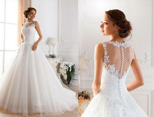 Vestido De Novia Importado Blanco Y Ivory