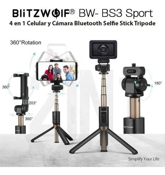 Pau De Selfie E Tripe Blitzwolf P/ Celular E Action Cam E +