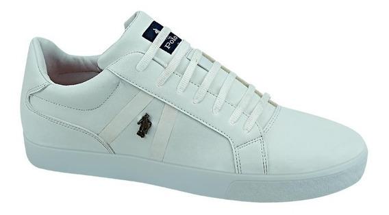 Tenis Casual Hpc Polo 6030 Id 829686 Blanco Para Hombre