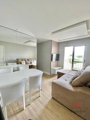 Apartamento Com 2 Dormitórios À Venda, 50 M² Por R$ 220.000,00 - Jardim Paulistano - Americana/sp - Ap1185