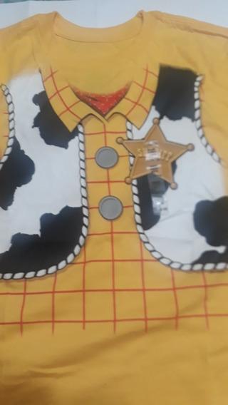 Remera Toy Story Sheriff Amarilla Original Nueva Sin Uso.